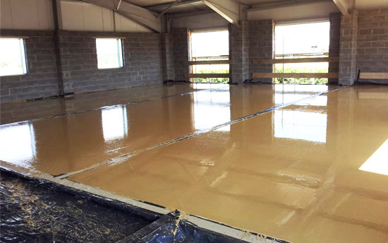 Large Liquid screed floor