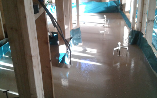 Installing Levelling Screed