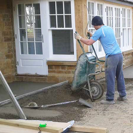 Traditional Screed Patio