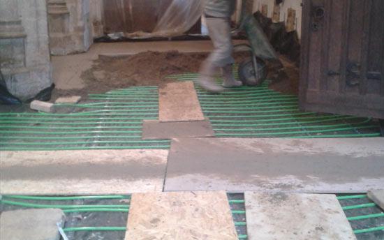 economical underfloor heating
