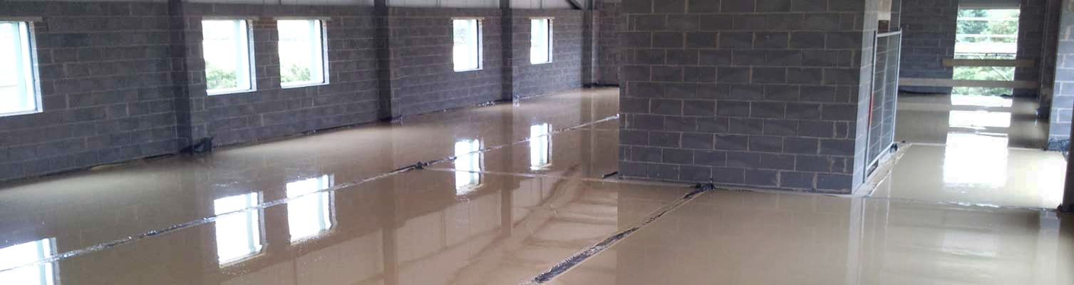 liquid anhydryte screed flooring