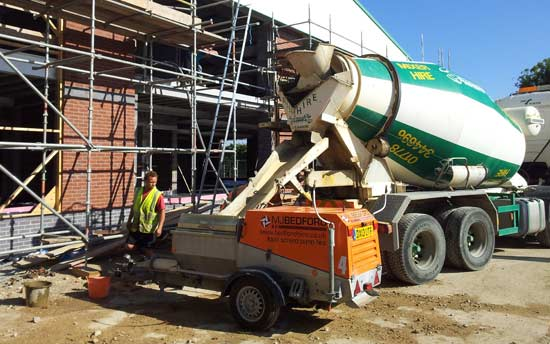 Traditional screed mixing