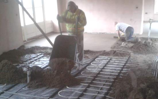 Traditional Screeding and Underfloor Heating
