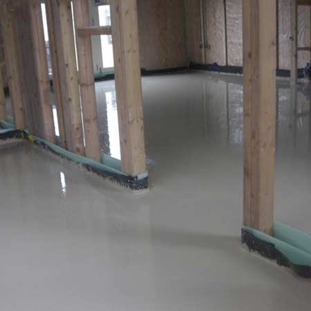 New build liquid screed
