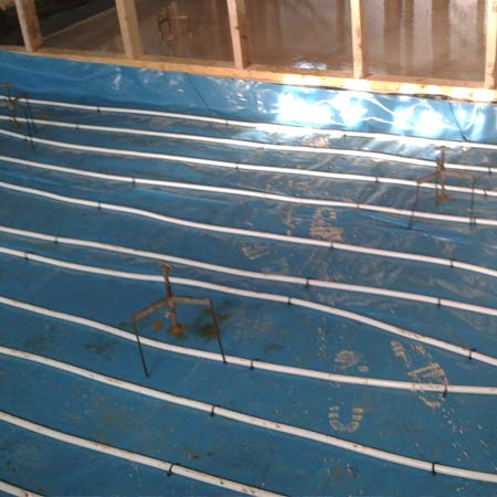 Underfloor heating project