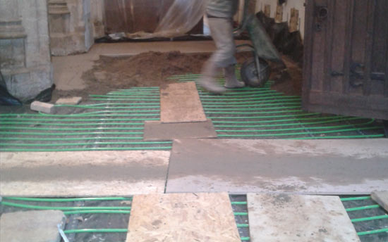economical underfloor heating