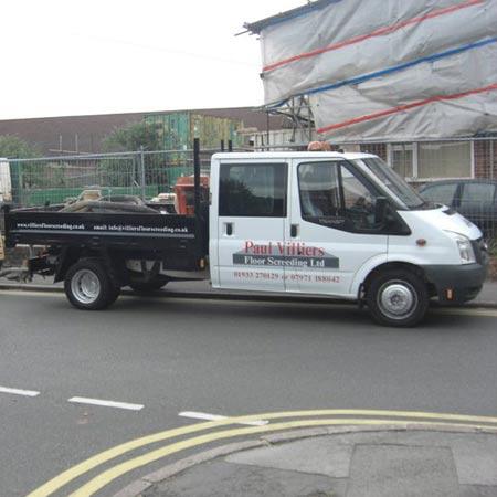 Our van in action